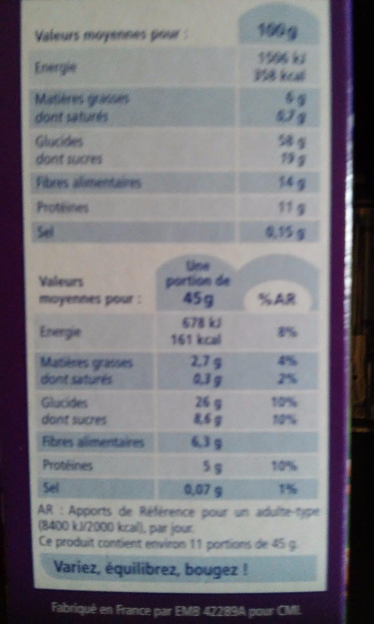 Bio muesli - Ingredients
