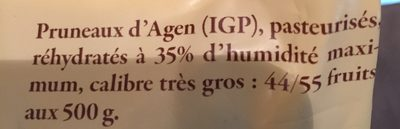 St 500G Pruneau Agen 44 / 55 Reflets De France - Ingrédients - fr