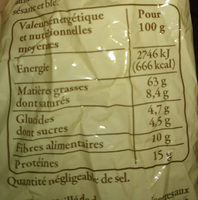 Noisettes du Sud-Ouest décortiquées 125 g - Reflets de France - Informations nutritionnelles - fr