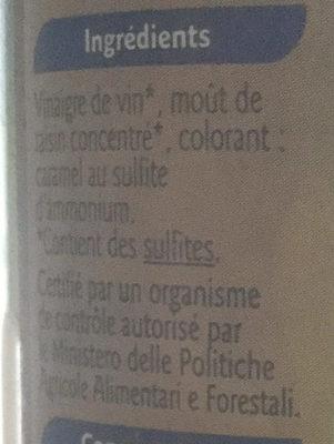 50CL Vinaigre Balsamique Grand Jury - Ingredients