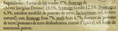 Ravioles au Chèvre de la Drôme - Ingrédients - fr