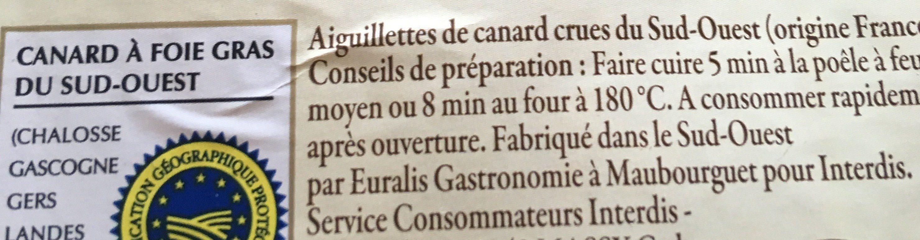 Aiguillettes de Canard du Sud-Ouest - Ingrediënten - fr