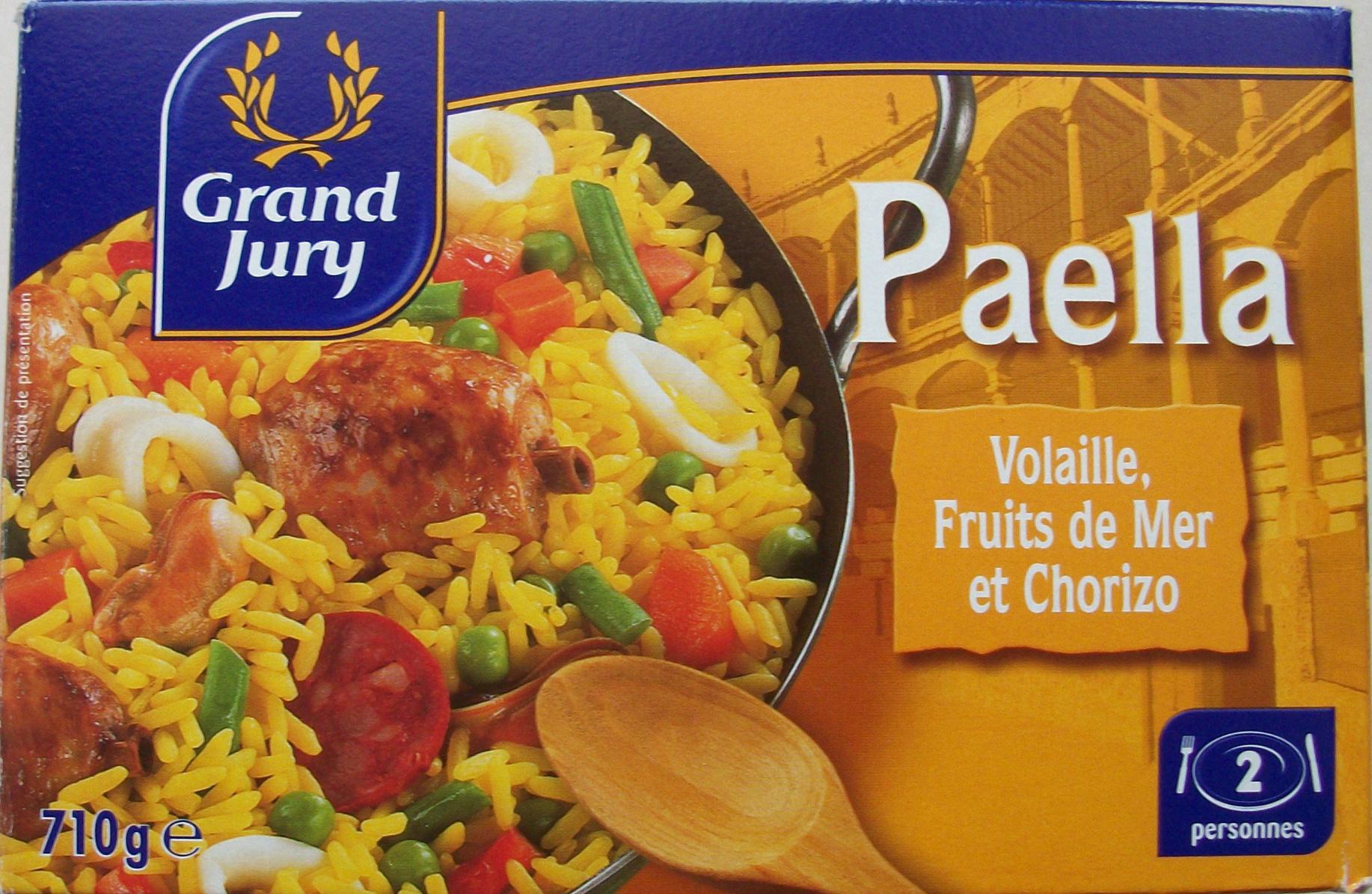 Paella (Volaille, Fruits de Mer et Chorizo) 2 personnes - Produit - fr