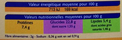 Paella (Volaille, Fruits de Mer et Chorizo) 2 personnes - Informations nutritionnelles - fr