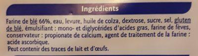 Pain de Mie Nature - Ingrédients - fr
