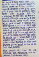 Hachis parmentier - 300 g - grand jury - Ingrédients