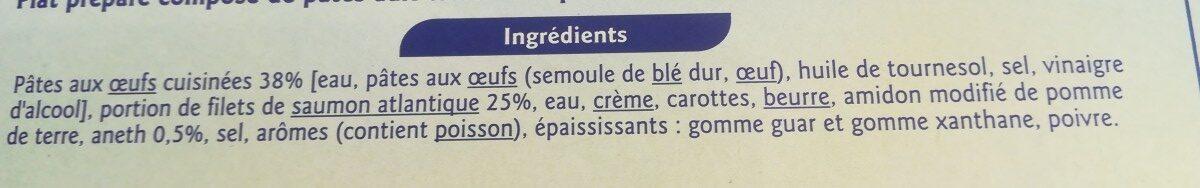 Saumon à l'Aneth et ses tagliatelles - Ingredients