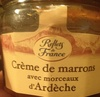 Crème de marrons avec morceaux d'Ardèche - Produit