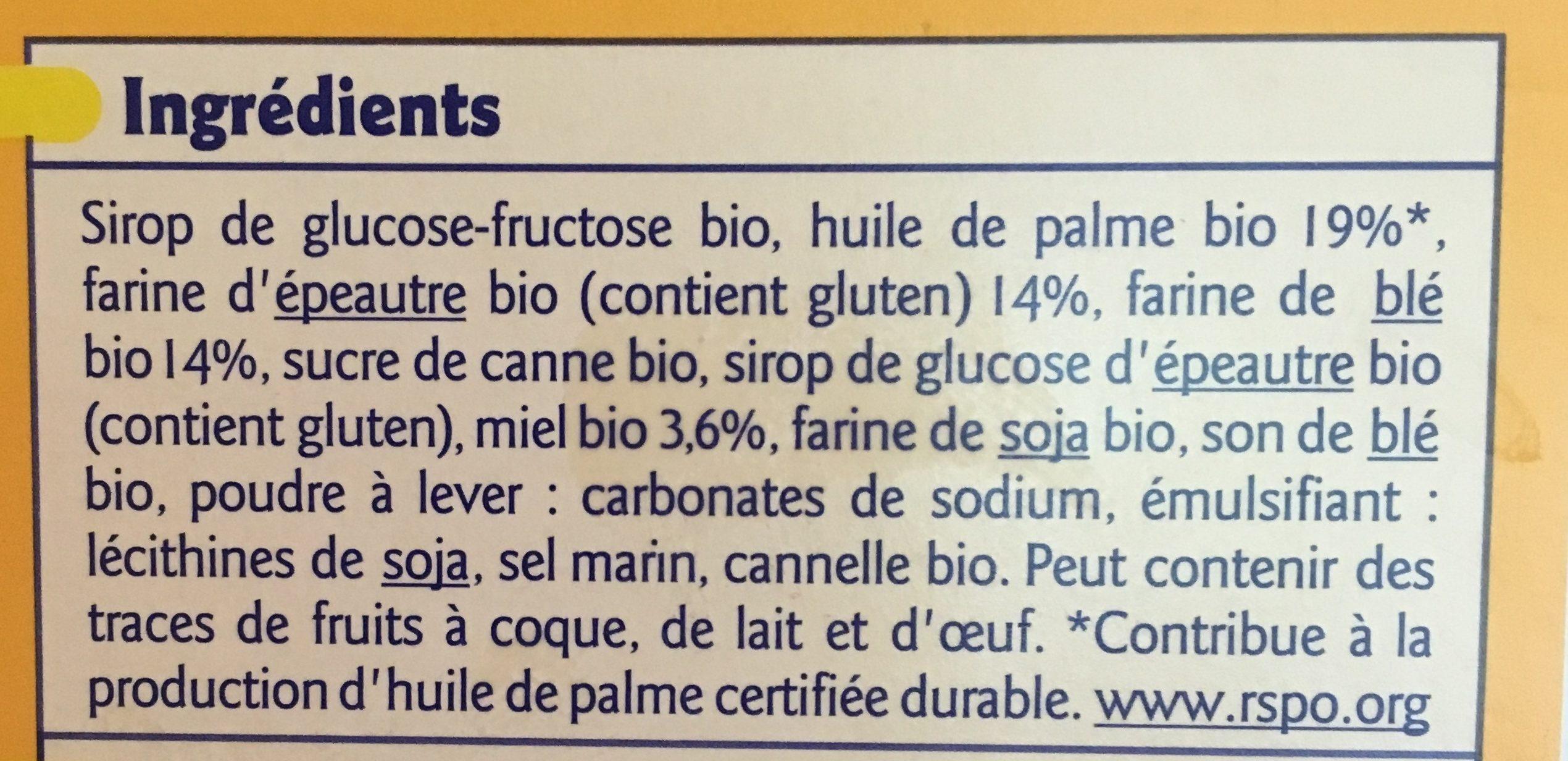 Gaufre Miel Bio - Ingredienti - fr