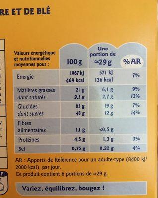 Gaufre Miel Bio - Valori nutrizionali - fr