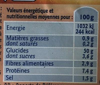 Demi Baguettes Précuites - Voedingswaarden - fr