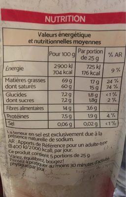 Noix de Coco Râpée - Voedingswaarden