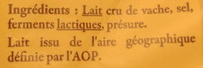 250G Abondance Aoc Reflets De France - Ingrédients - fr