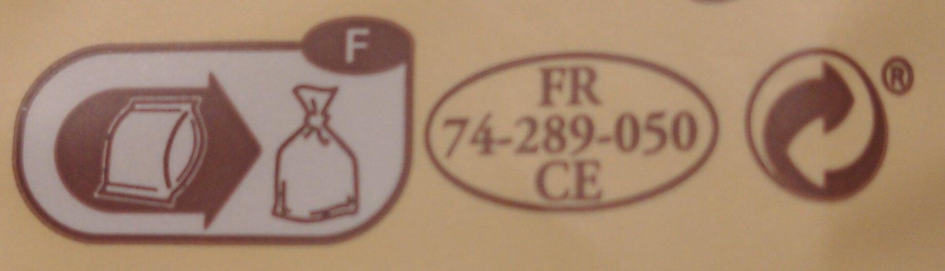 250G Abondance Aoc Reflets De France - Instruction de recyclage et/ou information d'emballage - fr