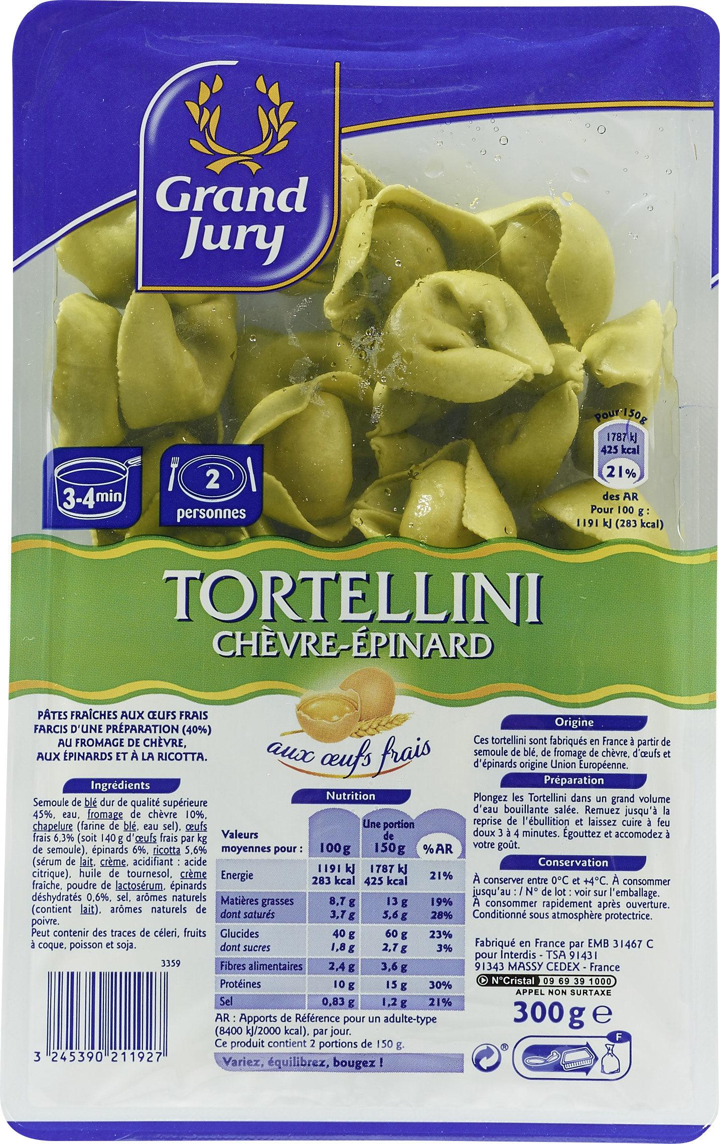 Tortellini chèvre épinards 300g grand jury - Product