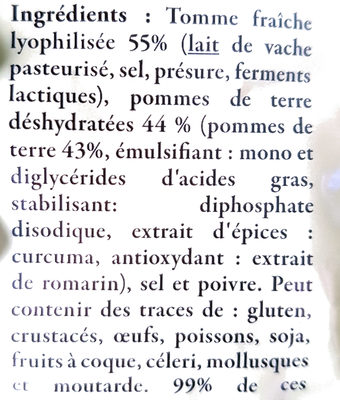 185G Aligot D'aveyron Reflets De France - Ingredients - fr