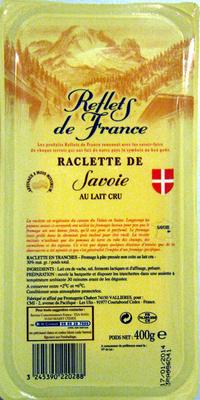 Raclette de Savoie (30% MG) au lait cru - Product