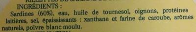 Rillettes de sardine de Bretagne - Ingrediënten - fr