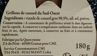 Grillons de canard du Sud-Ouest - Ingredients - fr