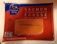 Saumon atlantique fumé élevé en écosse. Salé au sel sec, fumé au bois de hêtre - Product - fr