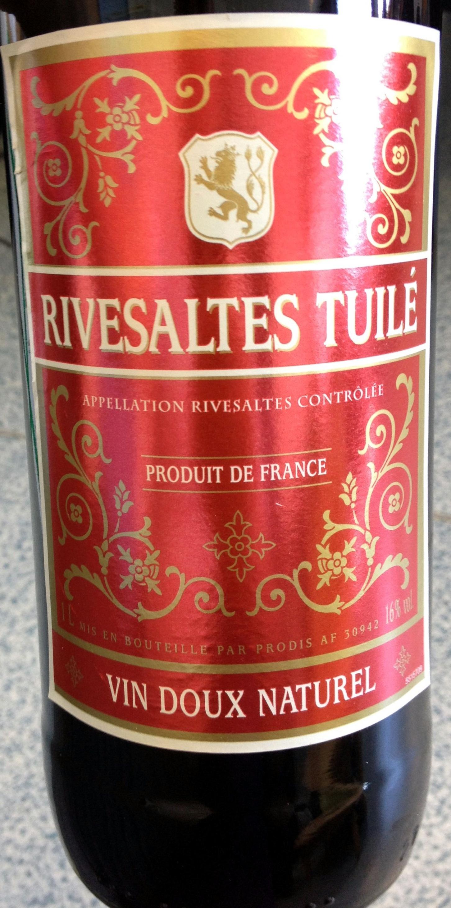 Rivesaltes Tuilé - Produit