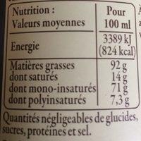 Huile d' olive de Provence AOC - Informations nutritionnelles - fr