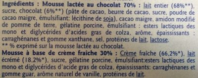Mousse liégeoise - Ingredients