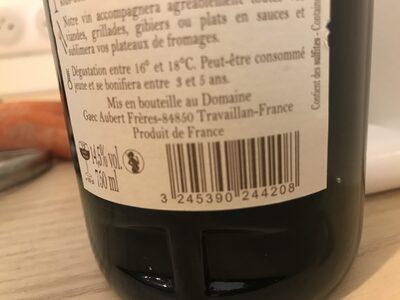 Plan de Dieu 2011 - Valori nutrizionali - fr