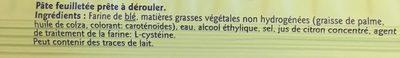 Pate Feuilletee Deroulee Perlor - Ingrediënten - fr
