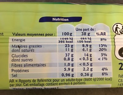 Pate Feuilletee Deroulee Perlor - Voedingswaarden - fr