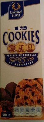 12 Cookies Pépites de Chocolat et Nougatine - Product - fr
