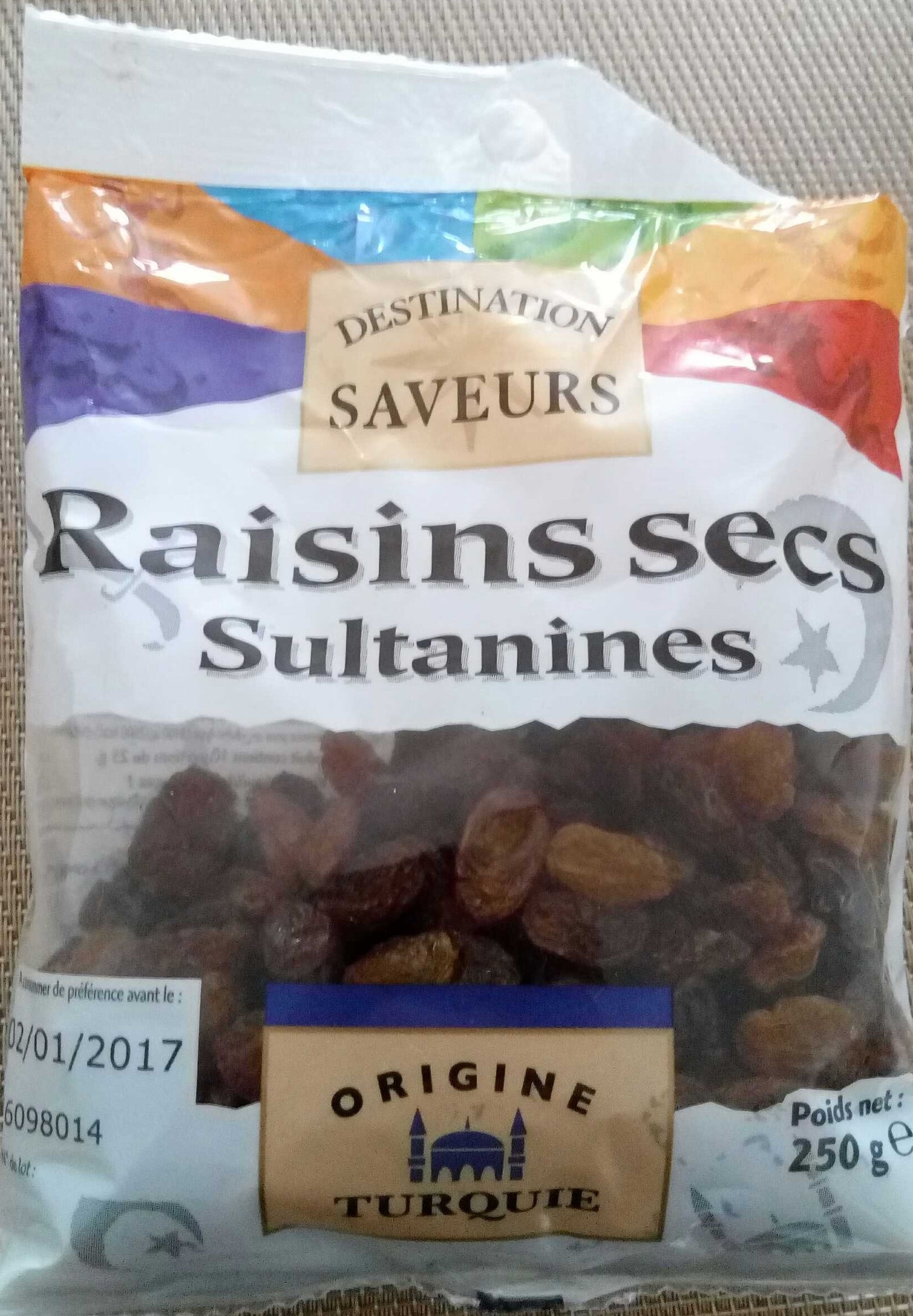 Raisins secs sultanines - Product