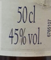 Pastis de Marseille - Valori nutrizionali - fr