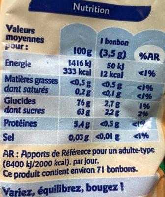 Frit'Acid - Informations nutritionnelles - fr