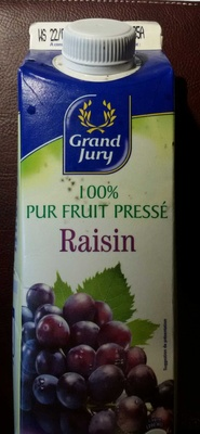 100% pur fruit pressé Raisin - Produit