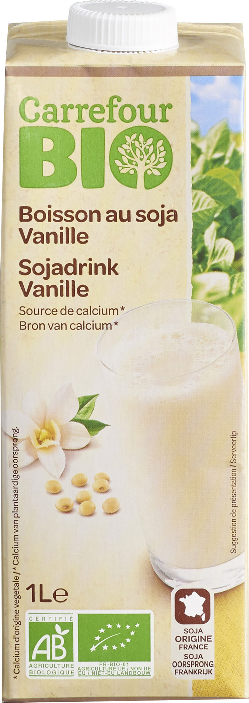 Boisson au soja vanille Source de calcium - Prodotto - fr
