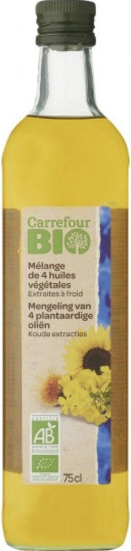 Mélange de 4 huiles végétales Extraites à froid bio Carrefour - Product - fr