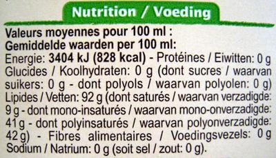 Mélange de 4 huiles végétales Extraites à froid bio Carrefour - Voedingswaarden