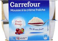 Mousse  de crème fouettée  sur fromage frais - Produit - fr
