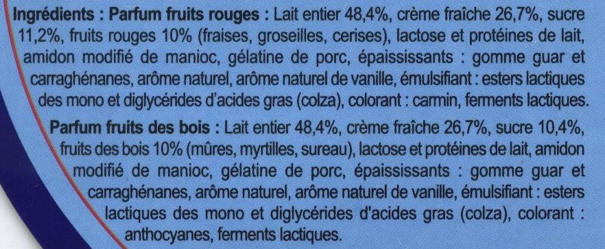 Mousse  de crème fouettée  sur fromage frais - Ingrédients - fr