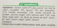 Assiette végétarienne de légumes et de quinoa - Ingrédients - fr
