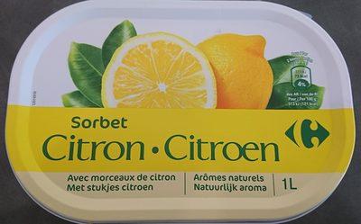 Sorbet citron avec morceaux - Product - fr