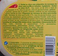 Sorbet citron avec morceaux - Ingrediënten - fr