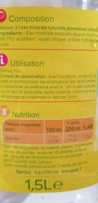 Les aromatisées - Ingrediënten - fr