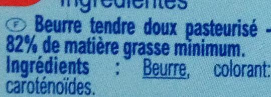 Beurre  Doux Tendre - Ingrediënten