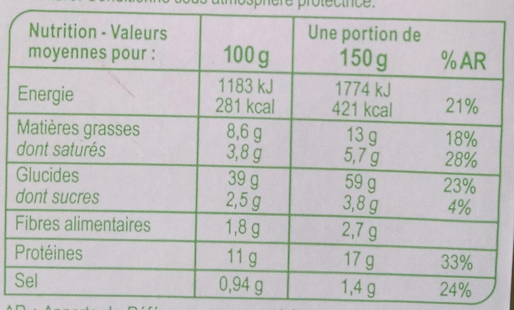 Tortellini Chèvre Épinard - Voedingswaarden - fr