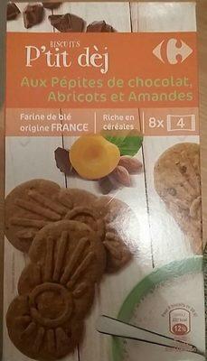 Biscuits p'tit dej au pépites de chocolat, abricots et amandes - Product - fr