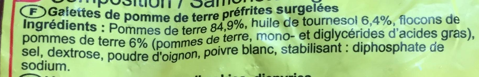Mini röstis - Ingredienti - fr