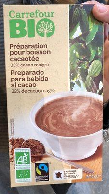 Préparation pour boisson cacaotée 32% de cacao maigre - Producto