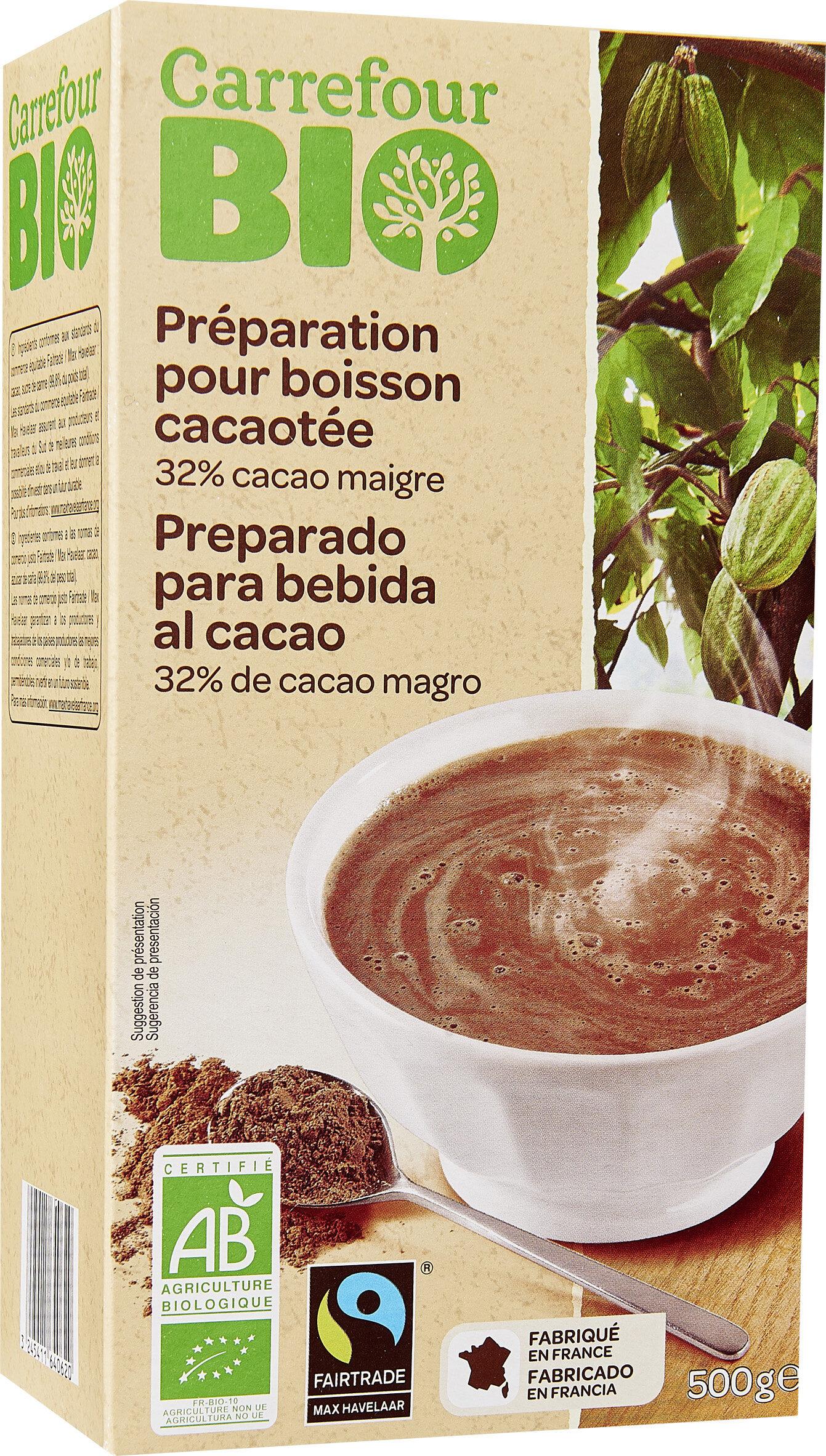Préparation pour boisson cacaotée 32% de cacao maigre - Producte - fr